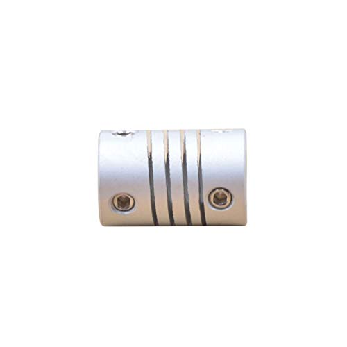 NIANZAI Hongfubang Diameter Coupler Aluminum Alloy Flexible Shaft Coupling Screw Driving D12 L18 CNC Stepper Motor Coupler Connector DIY 3D Printer Accessories (Inner Diameter : 3mm to 4mm)
