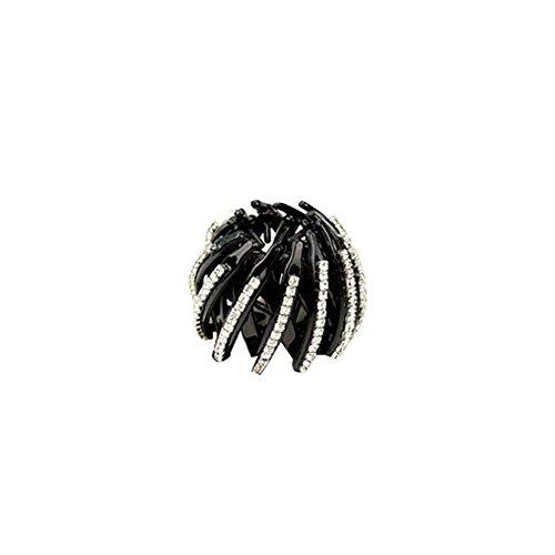 JUNGEN Pinces à Cheveux Clip queue de cheval Clips à Cheveux Donut Barrettes à clip pour cheveux inlay strass Accessoire de Disque de Coiffure (S)