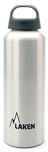 Laken Classic Borraccia di Alluminio Bottiglia d'Acqua con Apertura Ampia e Tappo a Vite con Impugnatura, 0,75L, Argento