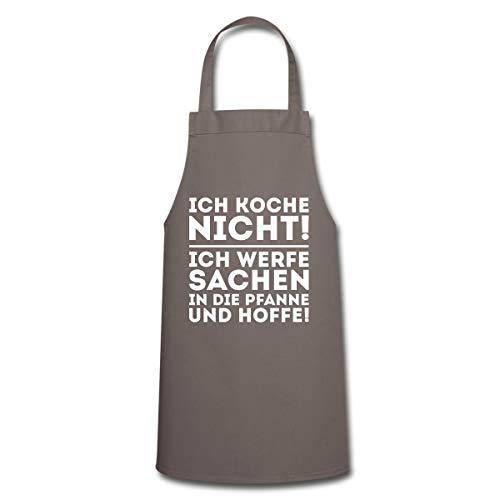 Spreadshirt Ich Koche Nicht Werfe Sachen In Die Pfanne Kochschürze, Grau