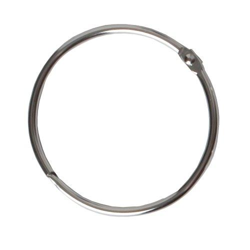 Maytex Metal Circular Shower Ring, Chrome, Set of 12