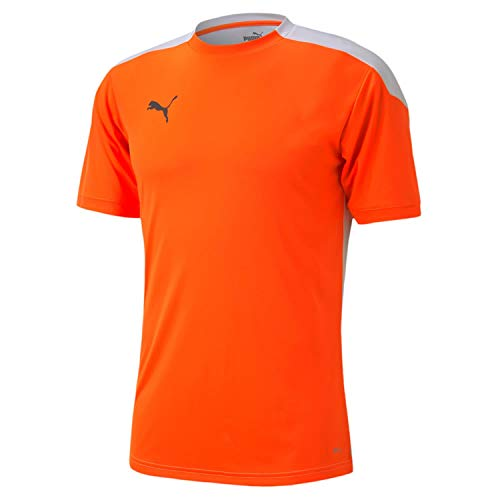 PUMA Ftblnxt Shirt Camiseta, Hombre, Shocking Orange/Puma White, M