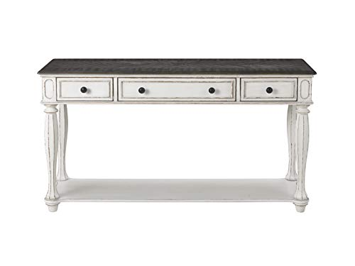 white antique console table - 1