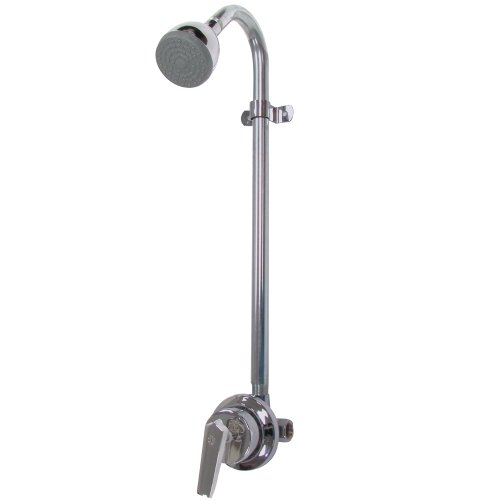 Speakman S-1496-AF Sentinel Mark II Shower Valve Combination with Cross Handle – Indoor/Outdoor Shower Hardware – Pressure Balance Exposed Shower Valve, Rough Chrome, 24.00'L x 5.13'W x 5.44'H