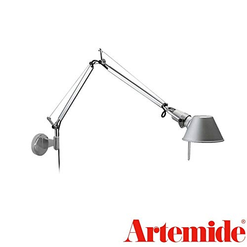 Artemide Tolomeo Micro wandlamp E14 40W aluminium A010900 + A025150