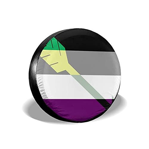 Cubierta DE LA Rueda Bandera combinada Ace ARO de Pride-Flags Funda para Neumáticos Cubierta para Rueda de Repuesto Protección Bolsa de Almacenamiento