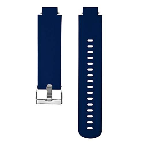 YONGLI Sport Sport Silicone Watch Band Correa De Muñeca para Huami Amazfit Verge Juvenil Watch Watch Smart Watch Bandas De Relojes Ajustables (Color : Dark Blue)