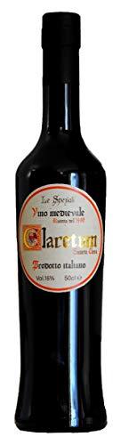 Claretum - Vino Medievale. Vino Muller Thurgau valdostano DOC aromatizzato alle spezie, prodotto secondo un manoscritto della fine del XV secolo, ritrovato in Valle d'Aosta. 50cl