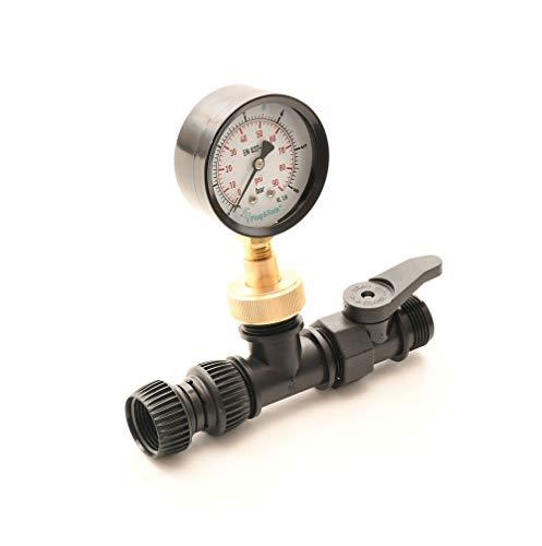 Messgerät Druck / Durchfluss zur Bestimmung der verfügbaren Wassermenge für die Garten-Bewässerung