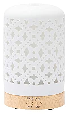 Ceramic Essential Oil Diffusers, Aromatherapy Diffusers Cool Mist Humidifier for Home Office Bedroom, BPA-Free?Medallion?