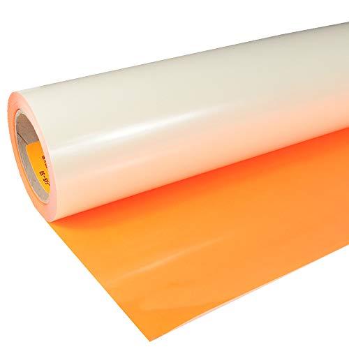 Siser 17,98€/m² Flexfolie P.S. Film Easy Weed A0023 Neon Orange 50cm x 1m Bügelfolie Flex Folie