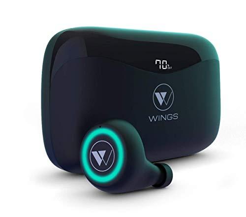 Wings PowerPods Upgraded 150 Hours Playtime True Wireless in-Ear Earbuds Earphones Headphones ; Gaming Mode ; PowerBank Function