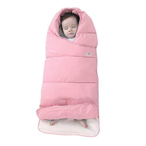 Baby Einschlagdecke Babyhörnchen Warm Babynest Krabbeldecke aus Daunen Baumwolle mit Reißverschluss Anti-Kick Dicke Schlafsack im Herbst und Winter