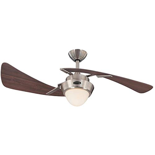 Westinghouse 7214100 48' Brushed Nickel & Maple Plywood Two Blade Ceiling Fan