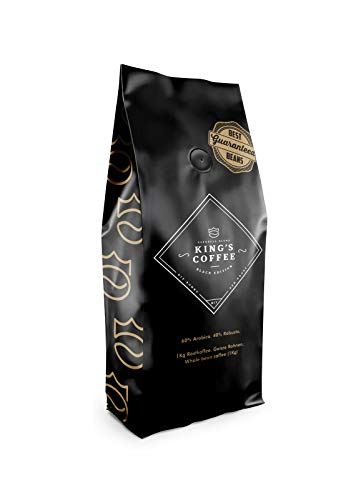 King's Coffee Black Edition – Dunkle Espresso Röstung – Arabica Robusta Blend – Kaffee-Bohnen für Vollautomaten – 1KG Espresso-Bohnen