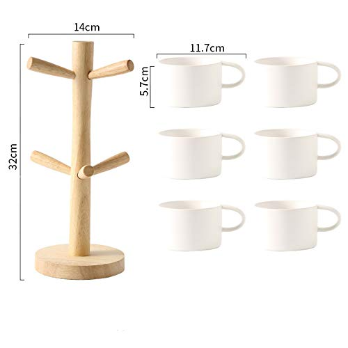 no logo Fresh and stylish coffee cup set simple light frosted European 6-piece household set 6-piece combination Nordic style ceramics