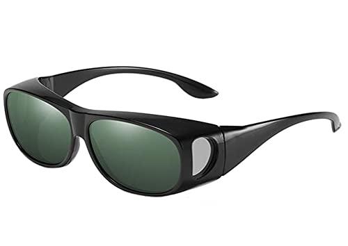 Gafas de sol Fitover Gafas de sol vintage clásicas de visión nocturna, gafas de sol UV únicas sobre la parte superior polarizadas 400 unisex