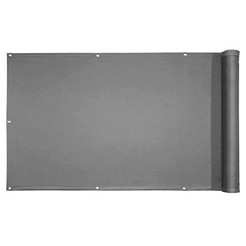 YIFANDU Pantalla de Privacidad 0.85x6m Resistente al Viento Toldo para Balcón Sujetacables Adjundas para Balcones y Terrazas, Gris Oscuro