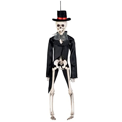 Boland- Decorazione Scheletro Sposo Skeleton Groom, Nero, 72090