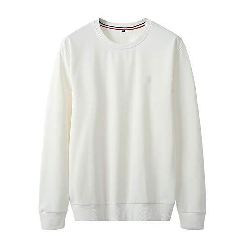 U/A Suéter de cuello redondo suelto para hombre Blanco blanco 6X-Large