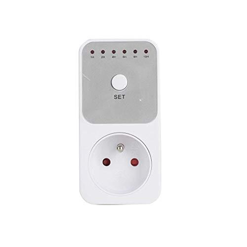 Vokmon Interruptor Profesional es 10 Horas Temporizador de Cuenta Regresiva de Control de Caja de Enchufe automático Cierra la Salida del Automaticl Apagar el Dispositivo electrónico