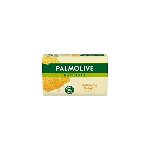 Palmolive Seife Naturals Milch & Honig 90g - mit Milch und Honig-Extrakten, feste Seife