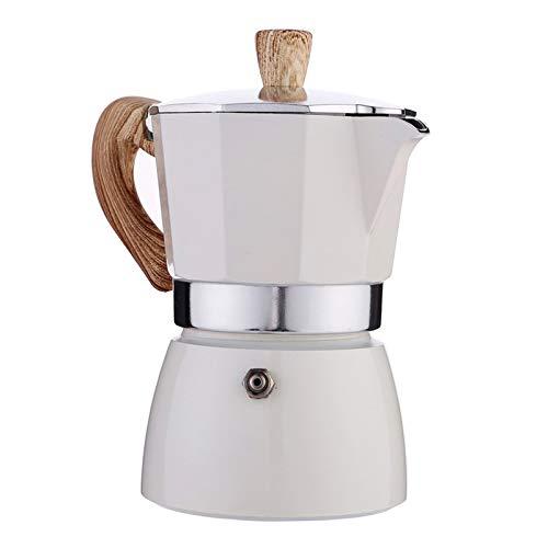 Nobranded Cafetera Italiana Moka Espresso CAFÉ percolador Olla Estufa cafetera - Blanco 300ml