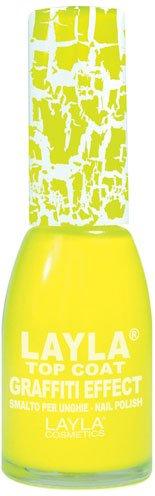 Layla Cosmetics Top Coat Graffiti Nagellack, yellow schock, 1er pack (1 x 0.01 L)