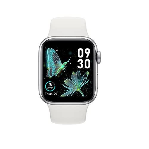 Ownlife Nuevo HW22 SmartWatch Hombres Mujeres 1,75 Pulgadas Pantalla HD Bluetooth Call DIY Watchfaces Smart Watch Sports Fitness Reloj para Android iOS (Color : White)