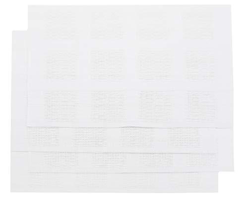 ZOLLNER 4er Set Tischset, 30x45 cm, weiß, PVC, abwaschbar, hitzebeständig