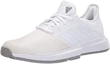 adidas mens Gamecourt Tennis Shoe, White, 7.5 US