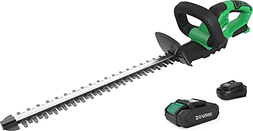 Cordless Hedge Trimmer - KIMO 1400rpm Electric Hedge Trimmers Cordless with 3/5
