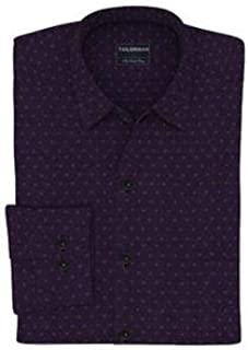 Tailorman Purple with Mustard Dobby Shirt