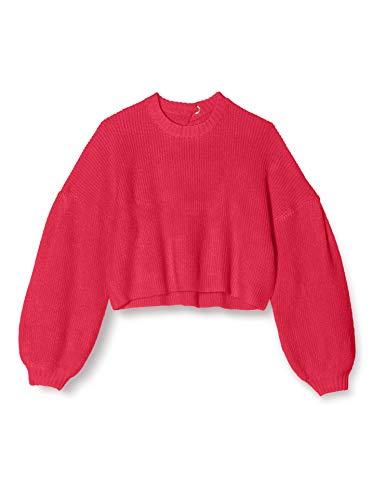 Marchio Amazon - find. T-shirt Girocollo Donna, Rosa, 44, Label: M