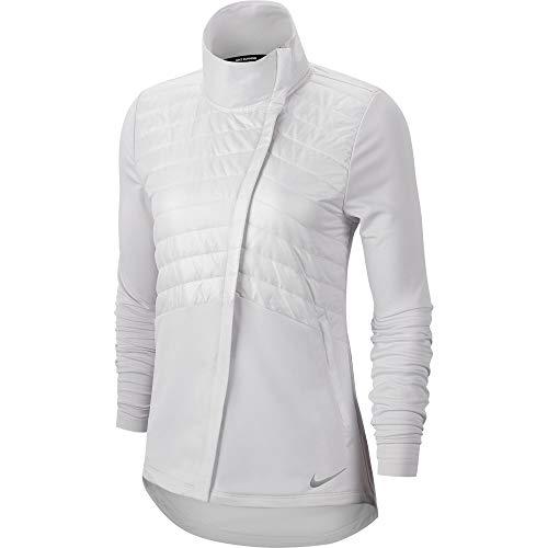 Nike Women's Essential Running Jacket VAST Grey/White/Reflective SILV L (VAST Grey/White/Reflective SILV, Large)
