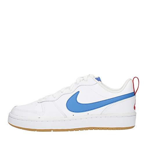 Nike Court Borough Low 2 (Gs) - White/Pacific Blue-University, Größe:4.5Y