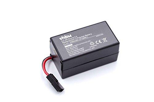 ar drone 2.0 batteria vhbw Batteria Litio-Polimeri 2500mAh (11.1V) per Drone multirotore quadrirotore Parrosso AR Drone 1.0