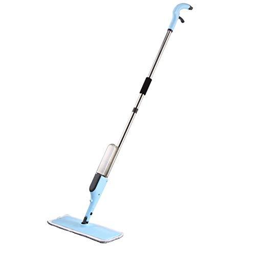 SHJMANJZ Home Flat Mop , Spray Cleaner pour sols avec 2 tampons et Bouteille Rechargeable de 300 ML Convient aux sols en Bois Franc, en marbre, en carrelage, en stratifié ou en céramique
