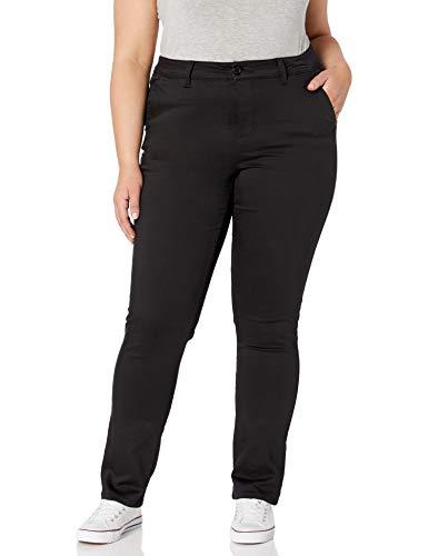 Celebrity Pink Jeans Women's Plus Size Smart Trouser Uniform Pant, Black, 22W