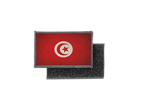 Aufnäher patch aufbügler vintage gedruckt flagge fahne tunesische tunesien