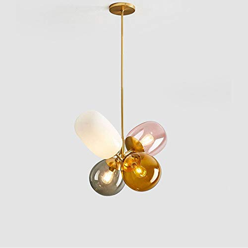 Lighfd Nordic Simple Children's Room Balloon glazen kroonluchter Badkamer Restaurant Warehouse slaapkamer decoratie Standaard E27 Showroom Thuis Ret Modern Cafe Lamp