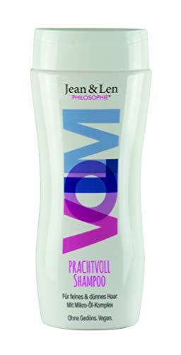 Jean & Len Shampoo Prachtvoll, der Mikro-Ölkomplex pflegt & das Erbsenprotein bildet einen schützenden Film um deine Haare, 230 ml, 1 Stück