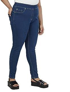 Splash High-RiseElastic Waist Skinny Jeans for Women - Blue, 22