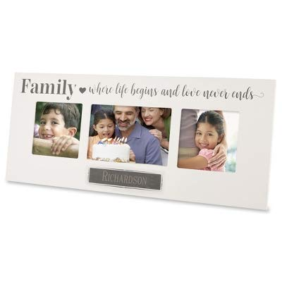 Things Remembered Personalized Family Triple-Opening Frame with Engraving Included