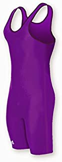 as101s Lycra sólido – Tirantes para Hombre, Púrpura