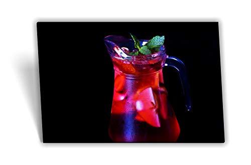 Medianlux canvas afbeelding spieraam koude drank limonade munt rood groen