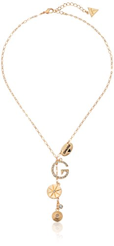 GUESS 'Basic Gold Pave G Linear Y-Shaped Necklace, 16' + 2' Extender