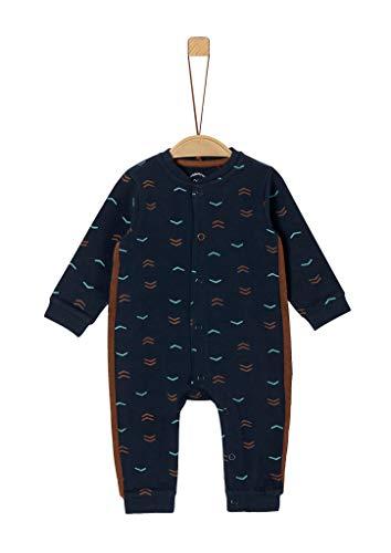 s.Oliver Unisex - Baby Gemusterter Jersey-Strampler Dark Blue 68