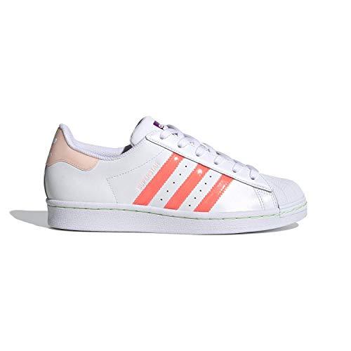 adidas Superstar, Sneaker Womens, Footwear White/Signal Pink/Shock Purple, 36 EU