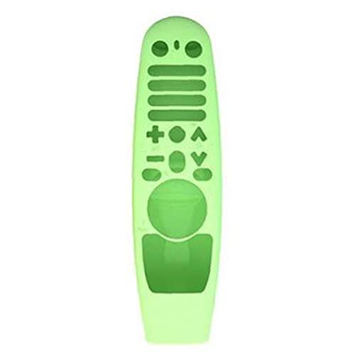 Odoukey TV Funda remota TV Funda Protectora remota TV Caja de Silicona remota TV Smart TV Smart Casesilicona Manga Protectora Compatible con LG AN-MR600 Control Remoto MR19BA Green